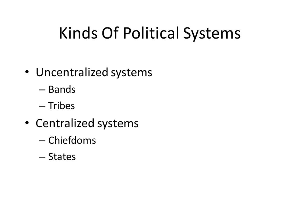 Kinds Of Political Systems