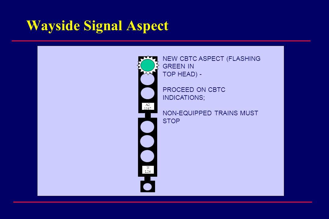 Wayside Signal Aspect NEW CBTC ASPECT (FLASHING GREEN IN TOP HEAD) -