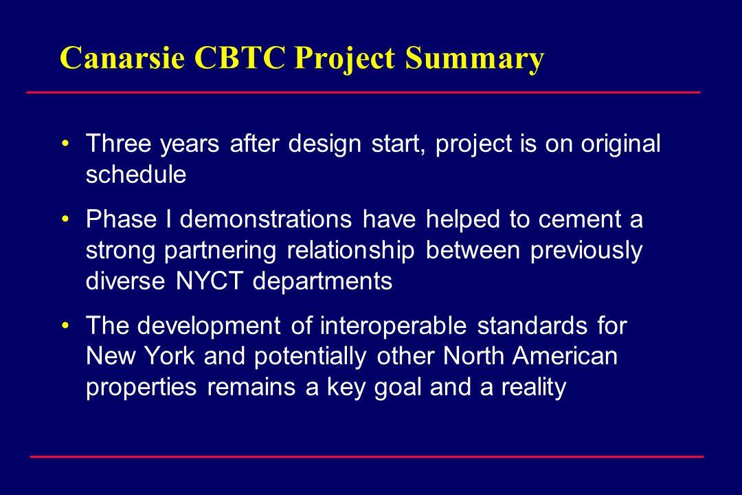 Canarsie CBTC Project Summary