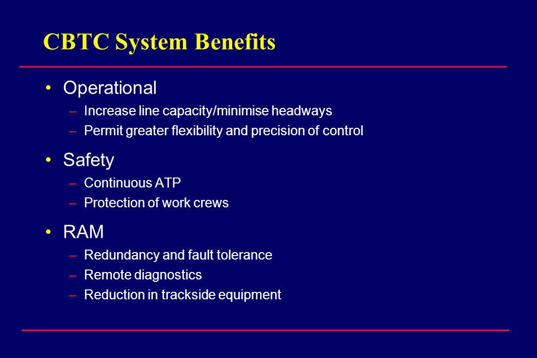 CBTC System Benefits Operational Safety RAM
