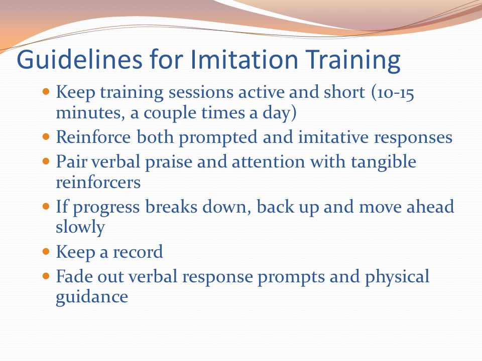 Guidelines for Imitation Training