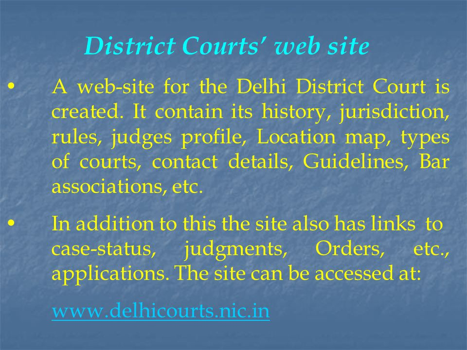 District Courts' web site
