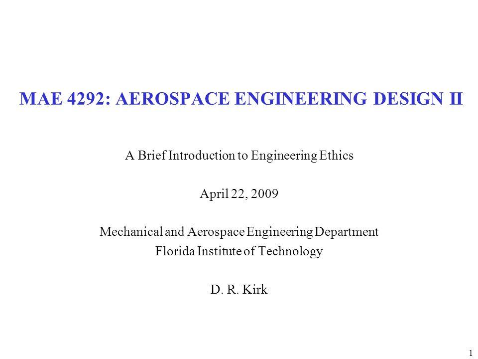 MAE 4292: AEROSPACE ENGINEERING DESIGN II