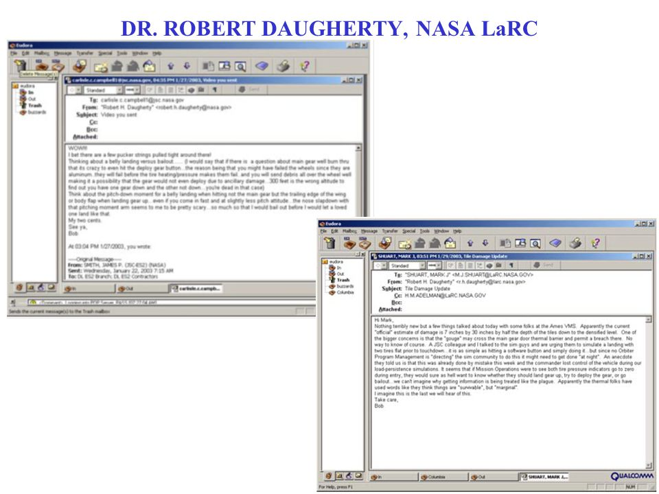 DR. ROBERT DAUGHERTY, NASA LaRC