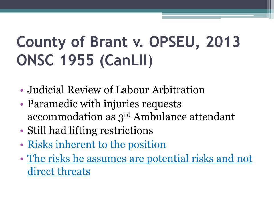 County of Brant v. OPSEU, 2013 ONSC 1955 (CanLII)