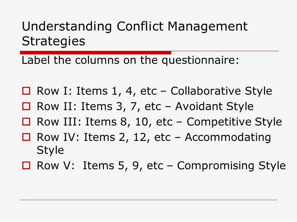 Understanding Conflict Management Strategies