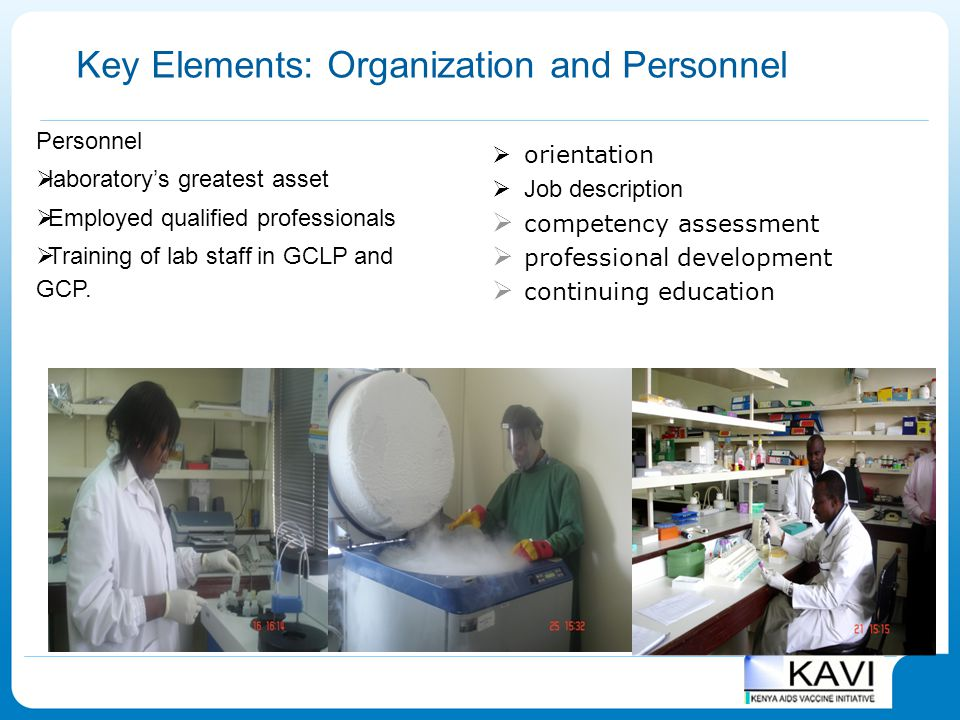 Key Elements: Organization and Personnel