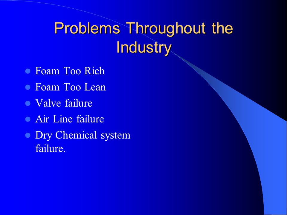 Problems Throughout the Industry