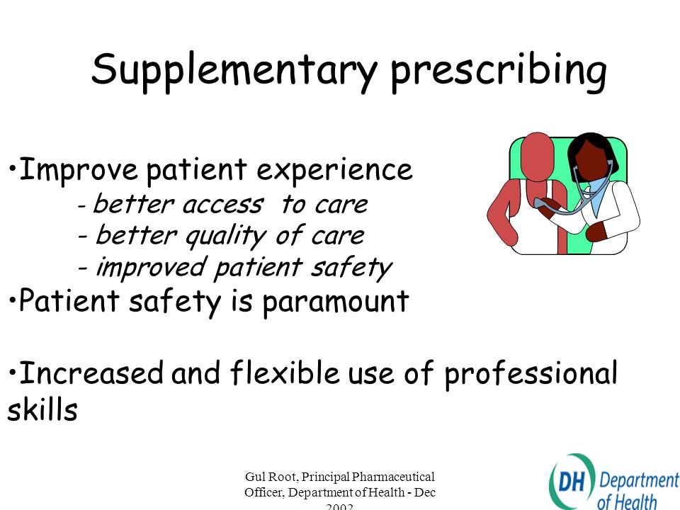 Supplementary prescribing