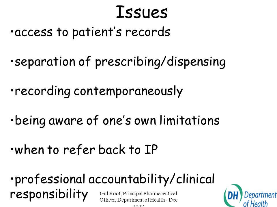 Issues access to patient's records