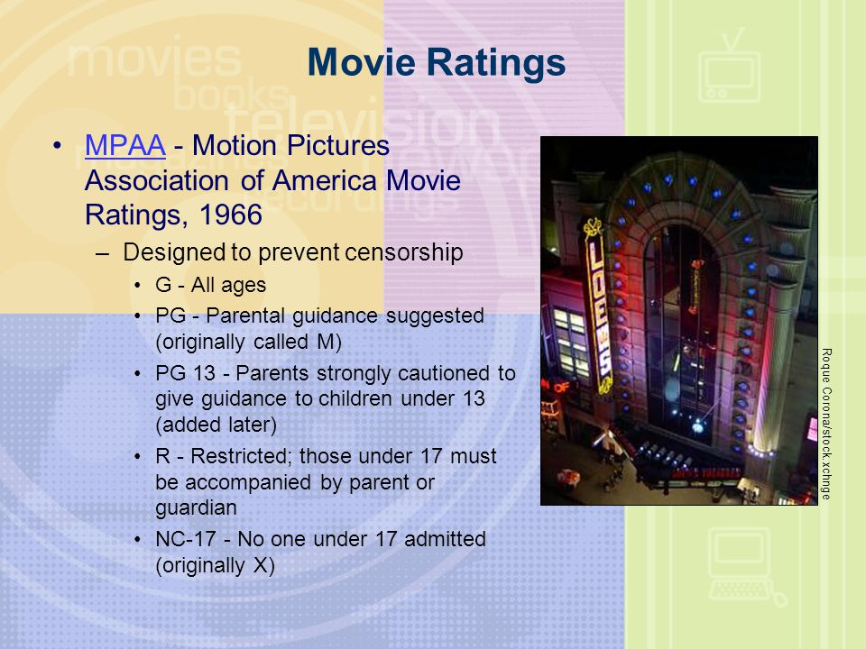 Movie Ratings MPAA - Motion Pictures Association of America Movie Ratings, 1966. Designed to prevent censorship.