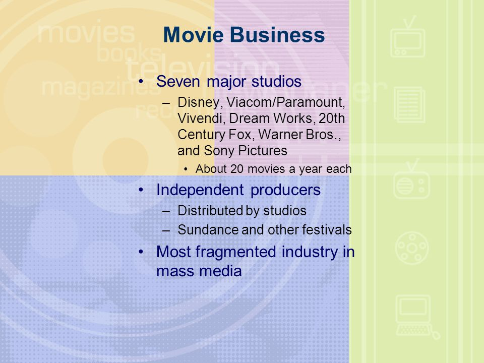 Movie Business Seven major studios Independent producers