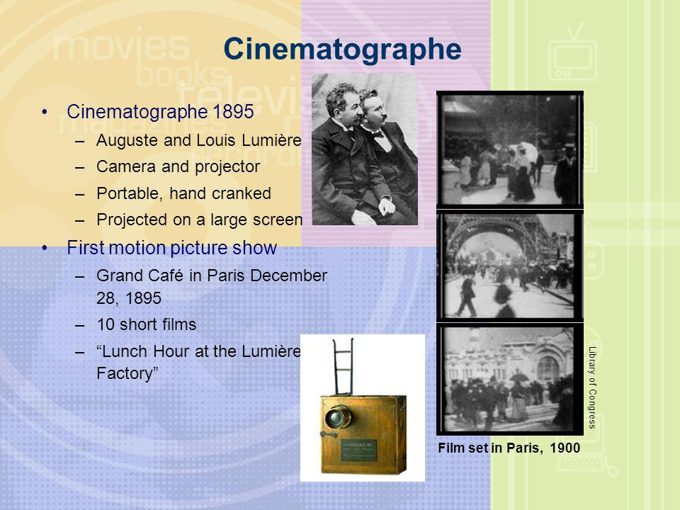 Cinematographe Cinematographe 1895 First motion picture show