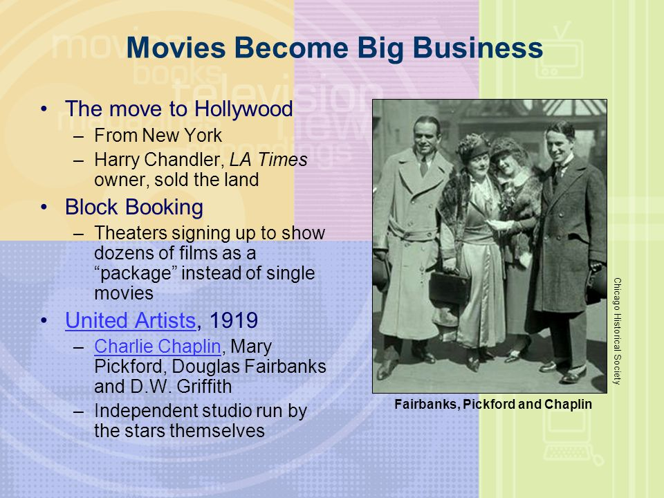 Movies Become Big Business