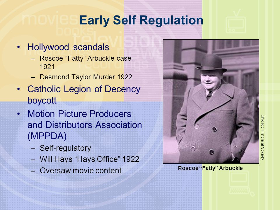 Early Self Regulation Hollywood scandals
