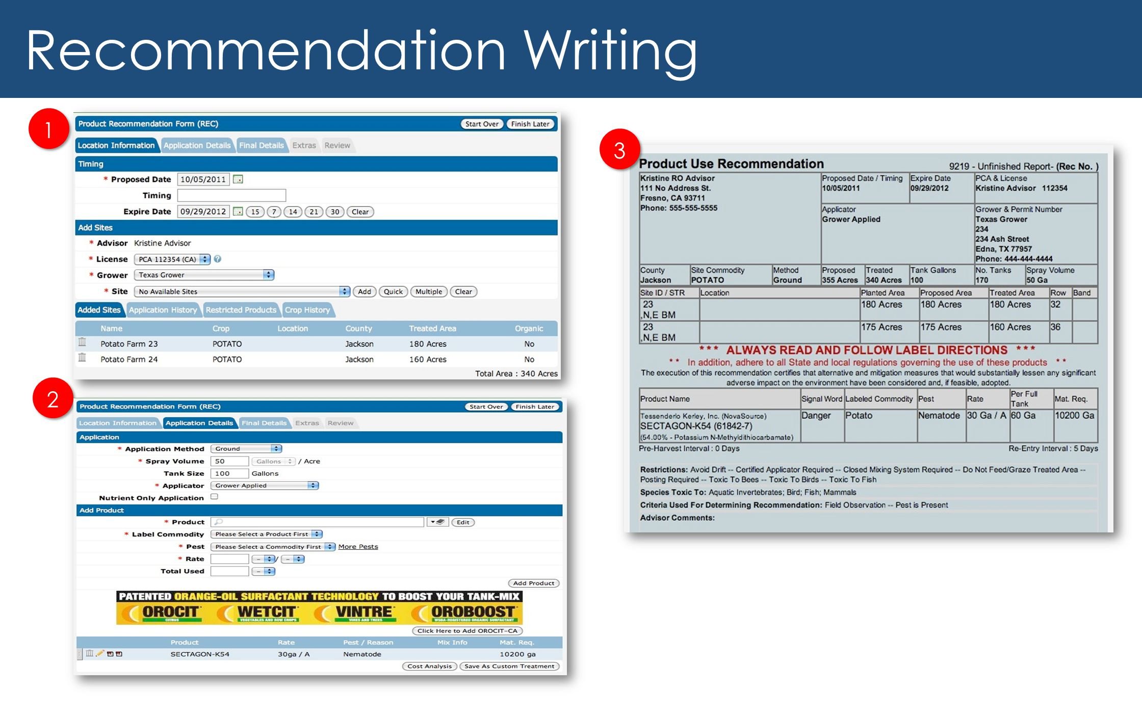 Recommendation Writing
