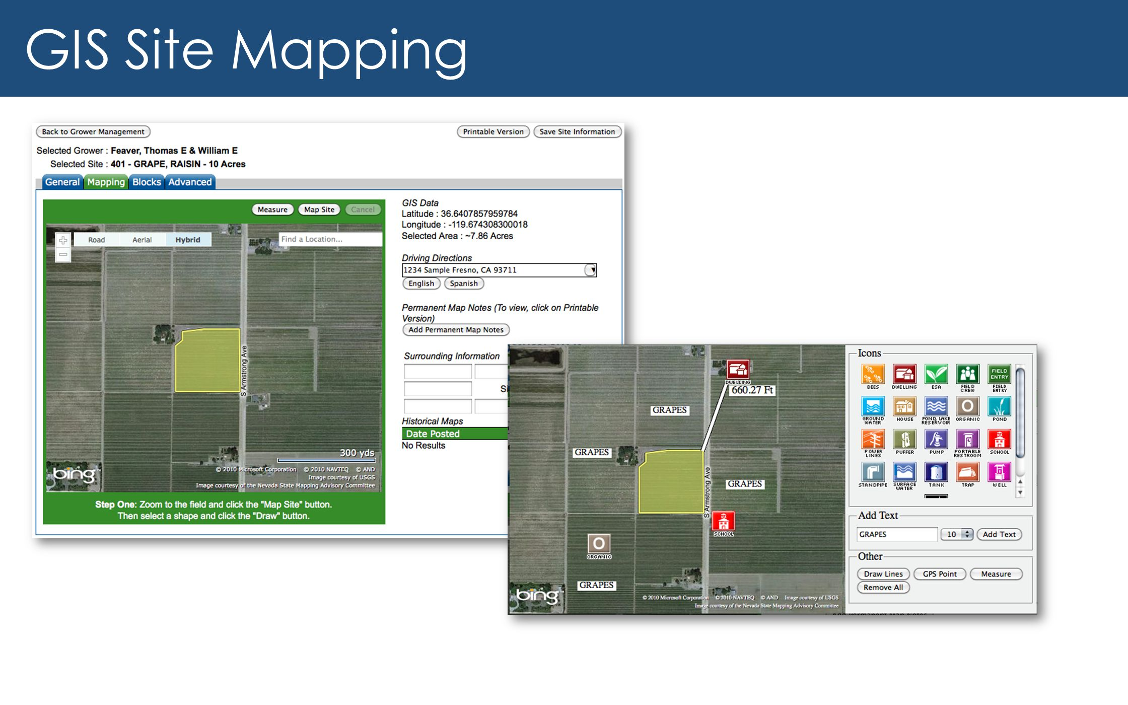 GIS Site Mapping