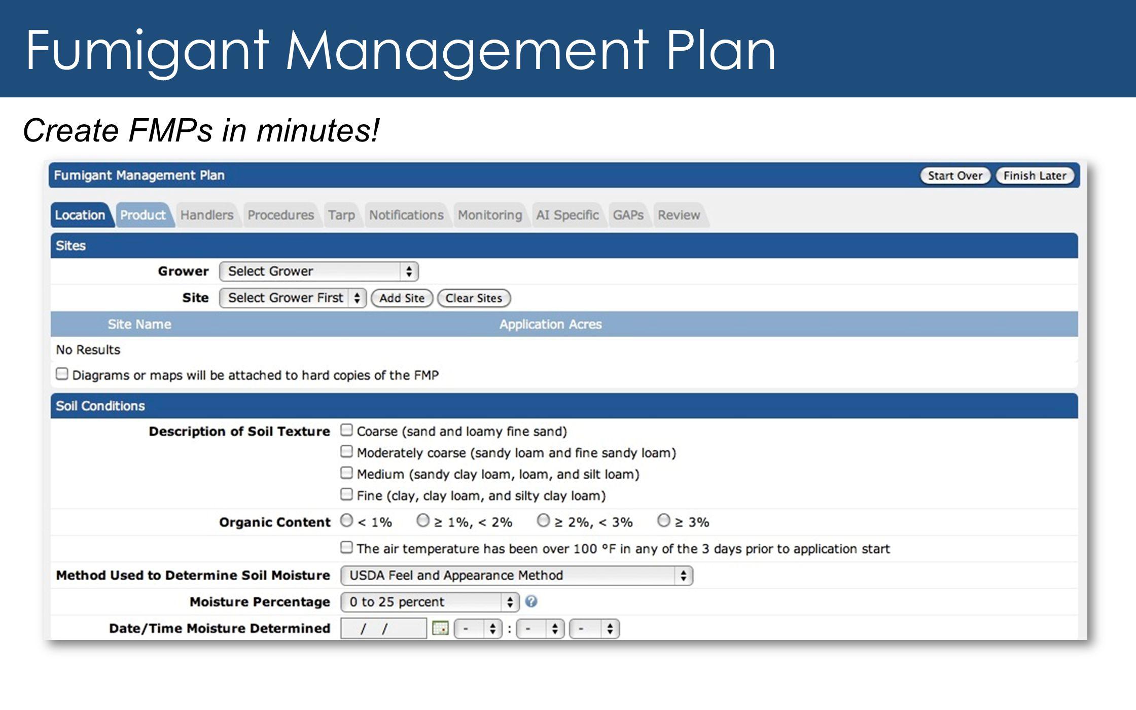 Fumigant Management Plan