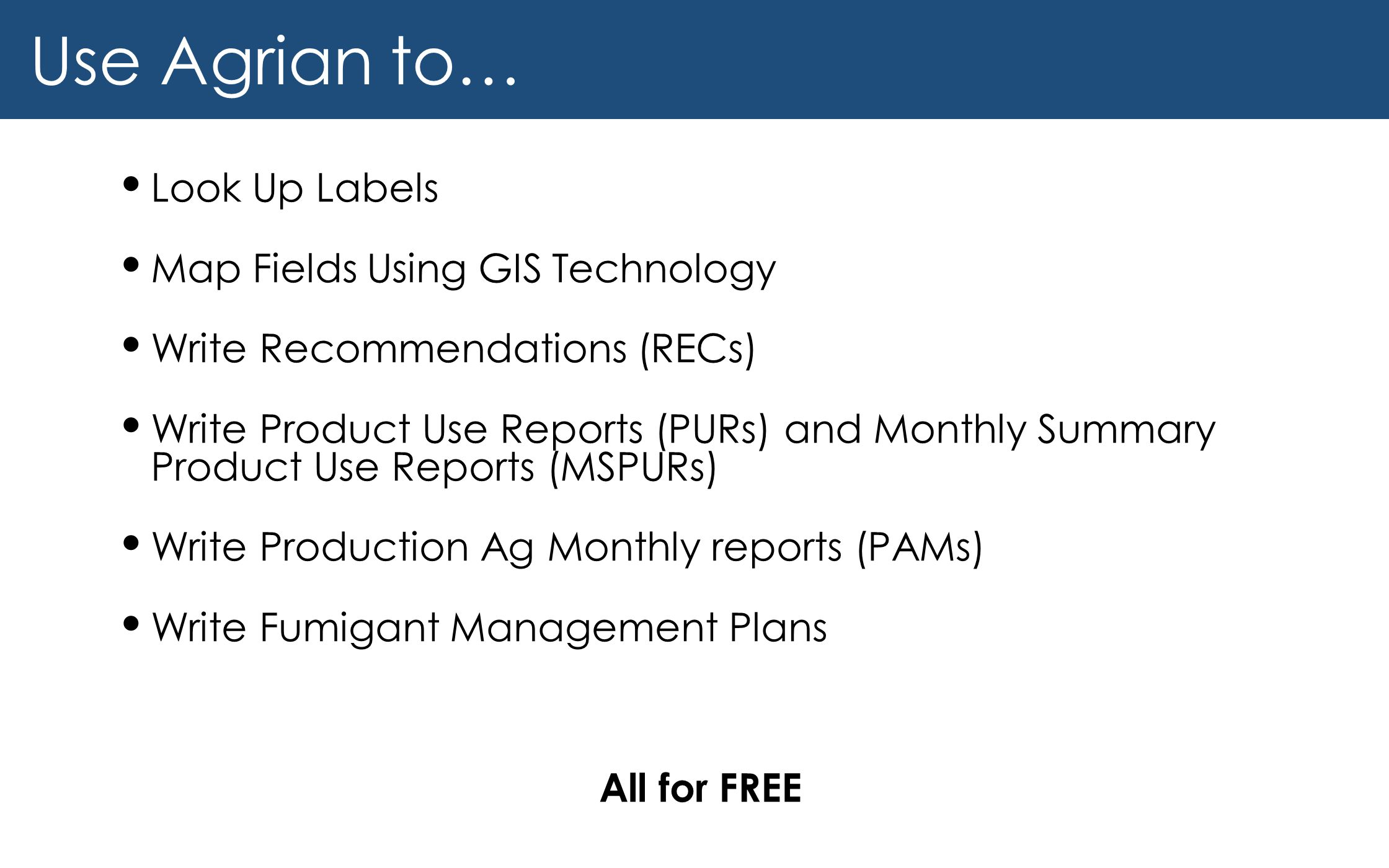 Use Agrian to… Look Up Labels Map Fields Using GIS Technology