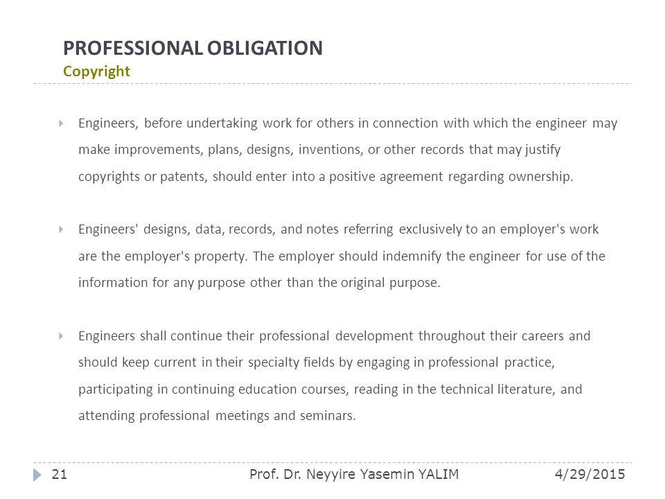 PROFESSIONAL OBLIGATION Copyright