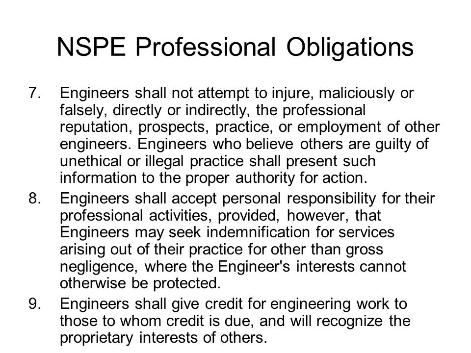 the ethical obligations of a city engineer City of boise and brown and caldwell recognized for as well as all professional engineers, take their ethical obligation to protect public health and safety.