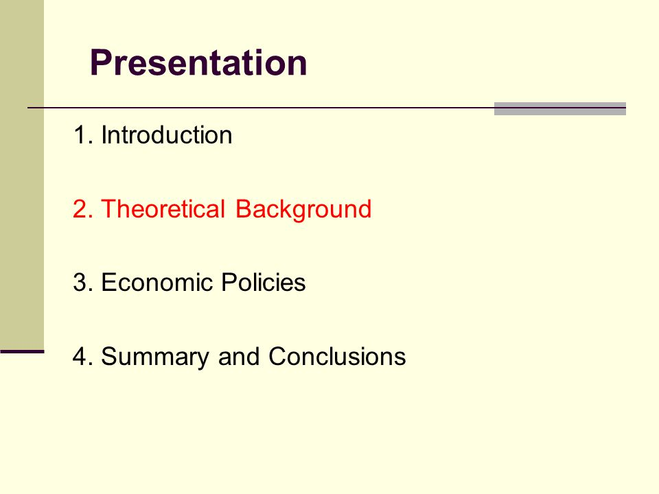 Presentation 1. Introduction 2. Theoretical Background