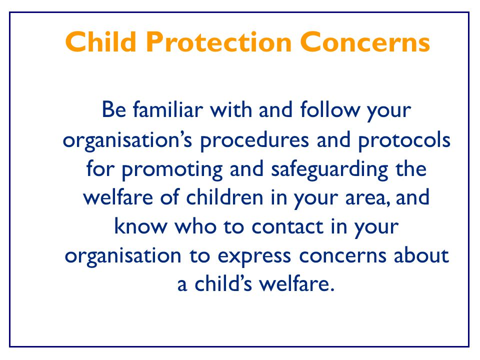 Child Protection Concerns