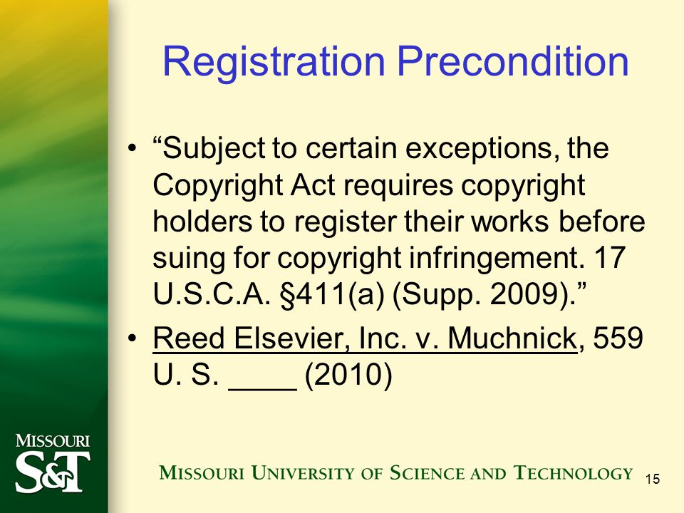 Registration Precondition