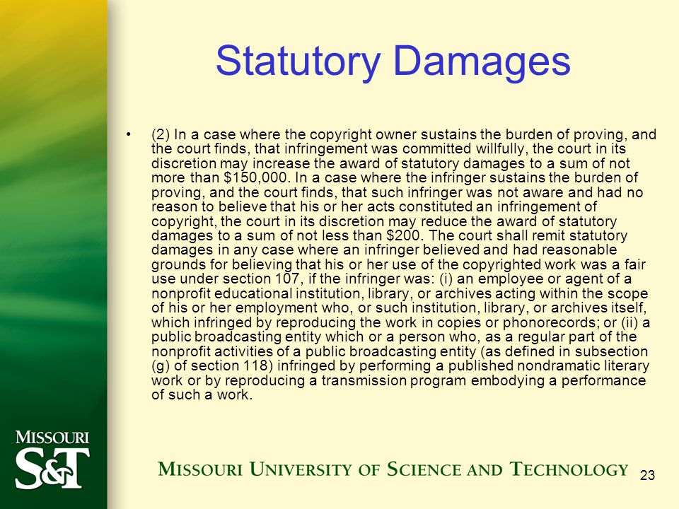 Statutory Damages