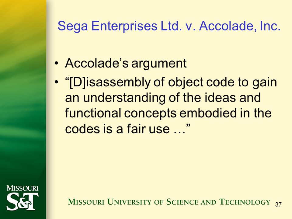 Sega Enterprises Ltd. v. Accolade, Inc.
