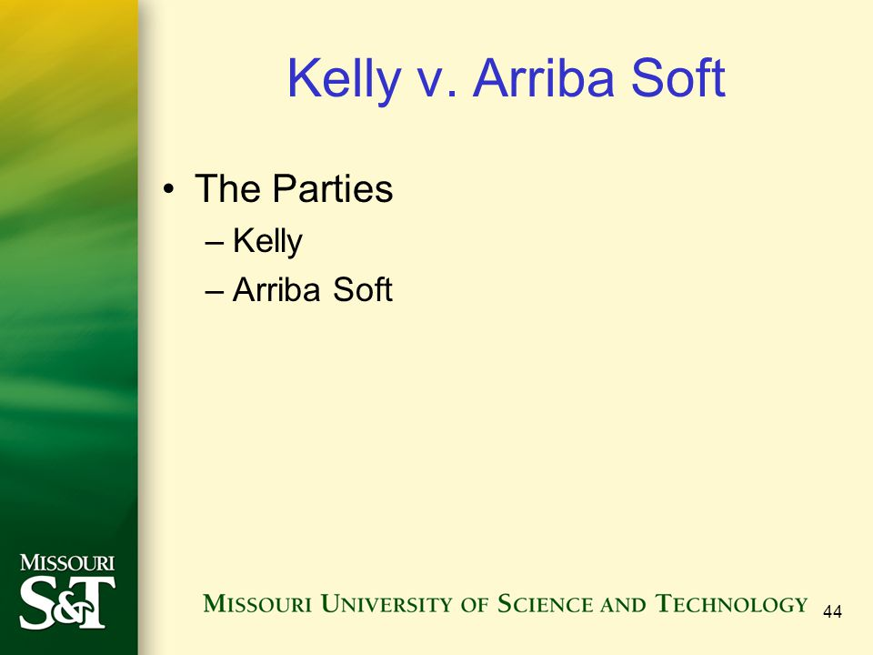 Kelly v. Arriba Soft The Parties Kelly Arriba Soft