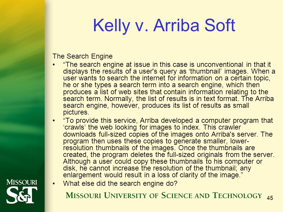 Kelly v. Arriba Soft The Search Engine