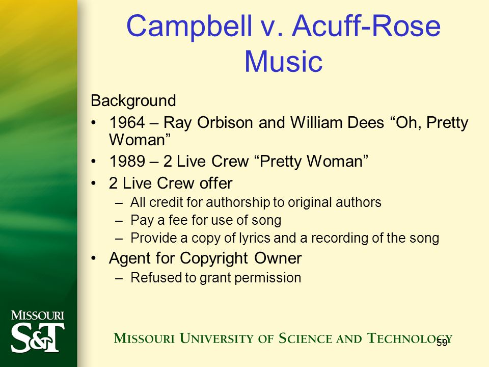 Campbell v. Acuff-Rose Music