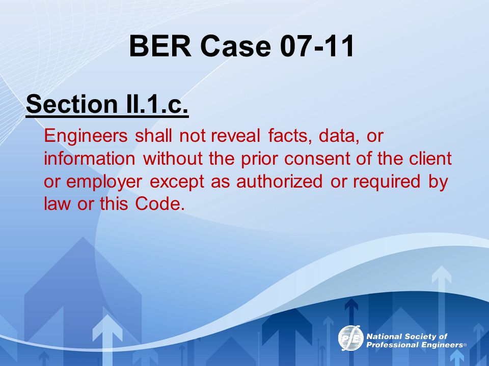 BER Case 07-11 Section II.1.c.