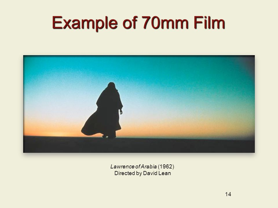 Example of 70mm Film Lawrence of Arabia (1962) Directed by David Lean