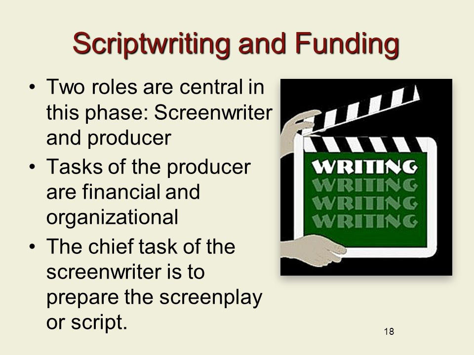Scriptwriting and Funding