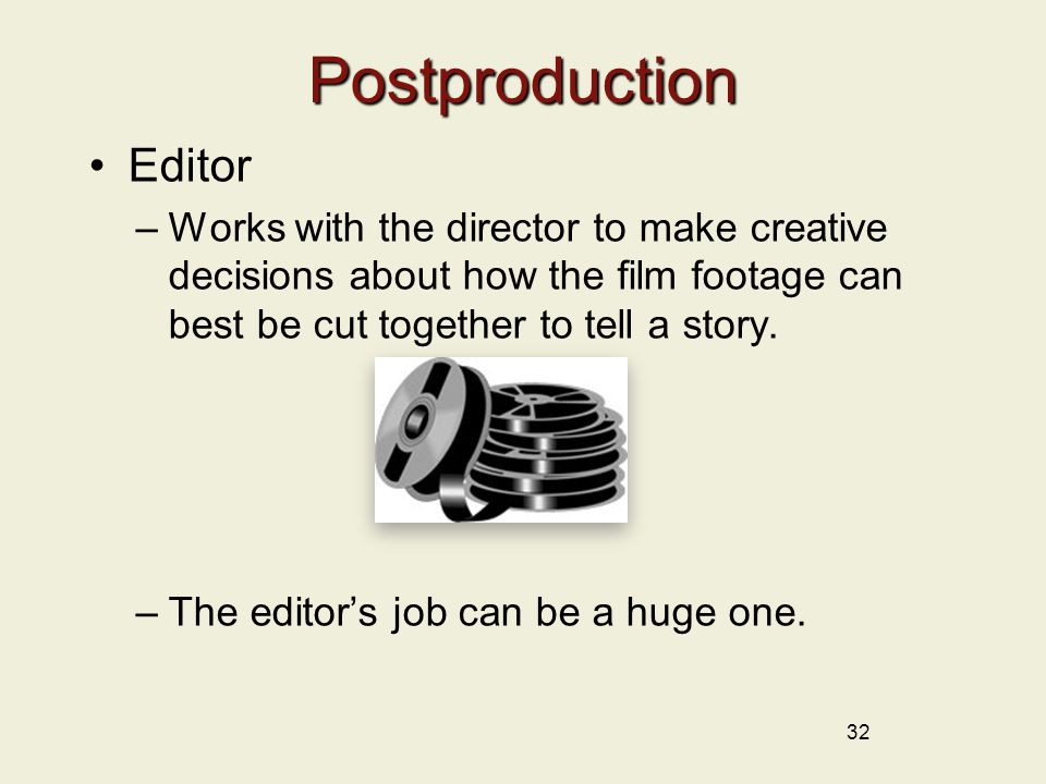 Postproduction Editor