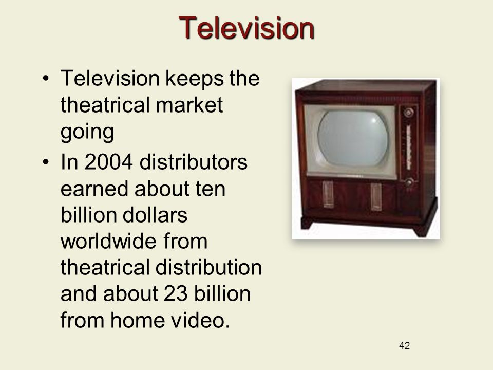 Television Television keeps the theatrical market going