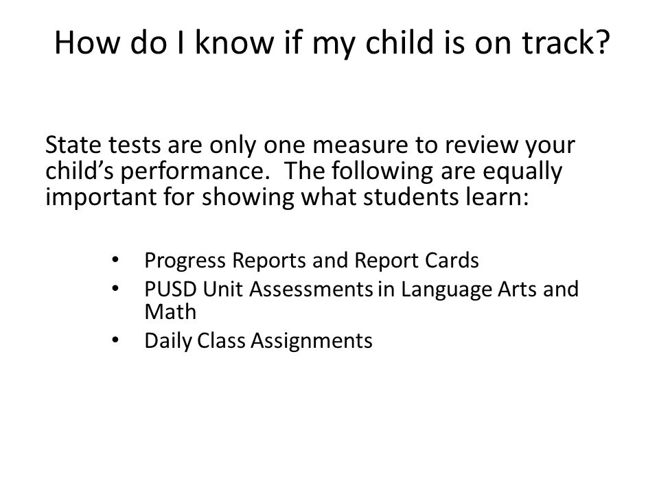 How do I know if my child is on track