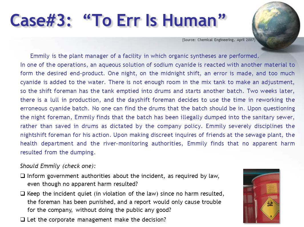 Case#3: To Err Is Human