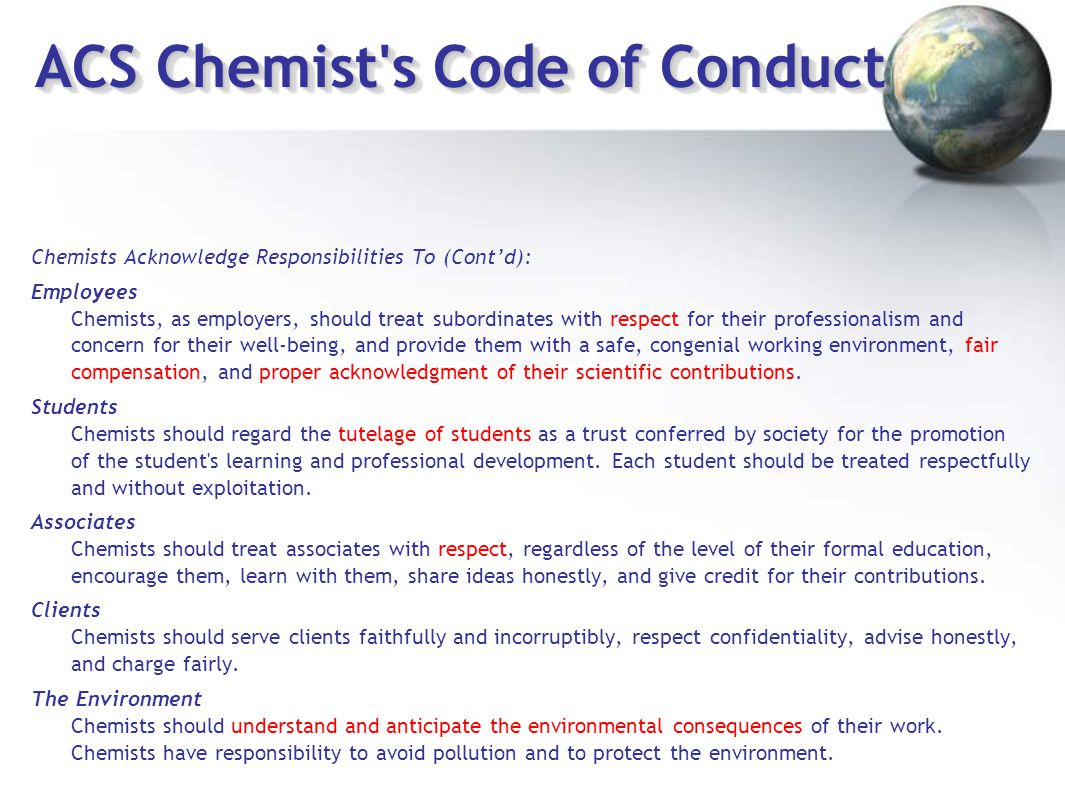 ACS Chemist s Code of Conduct