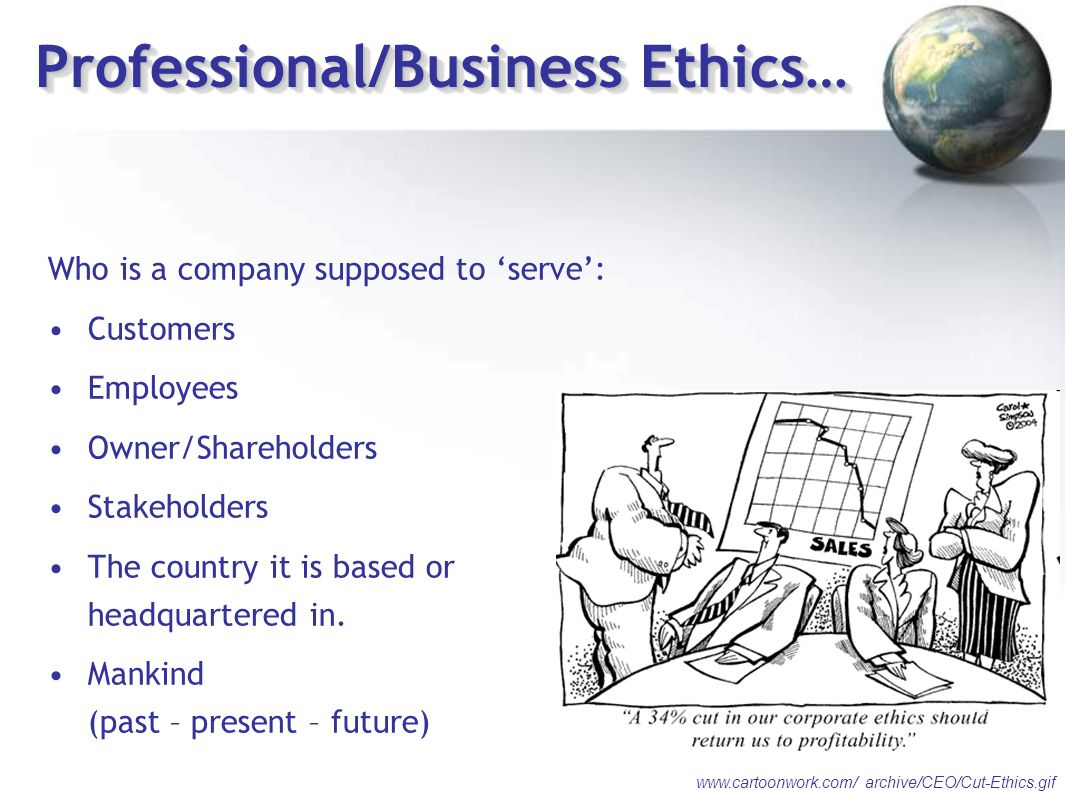 Professional/Business Ethics…