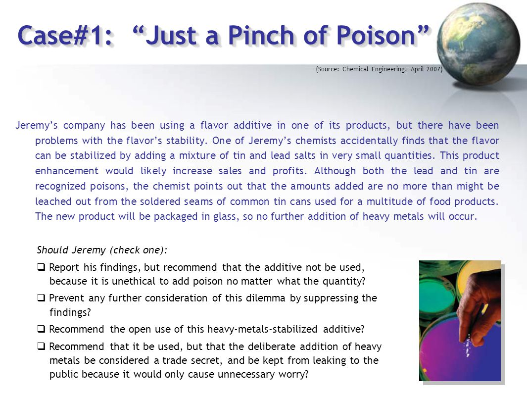 Case#1: Just a Pinch of Poison