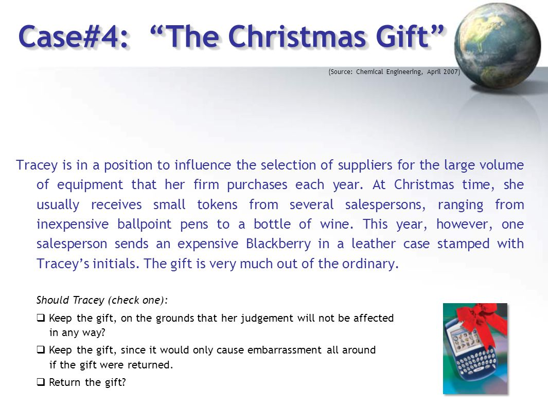 Case#4: The Christmas Gift