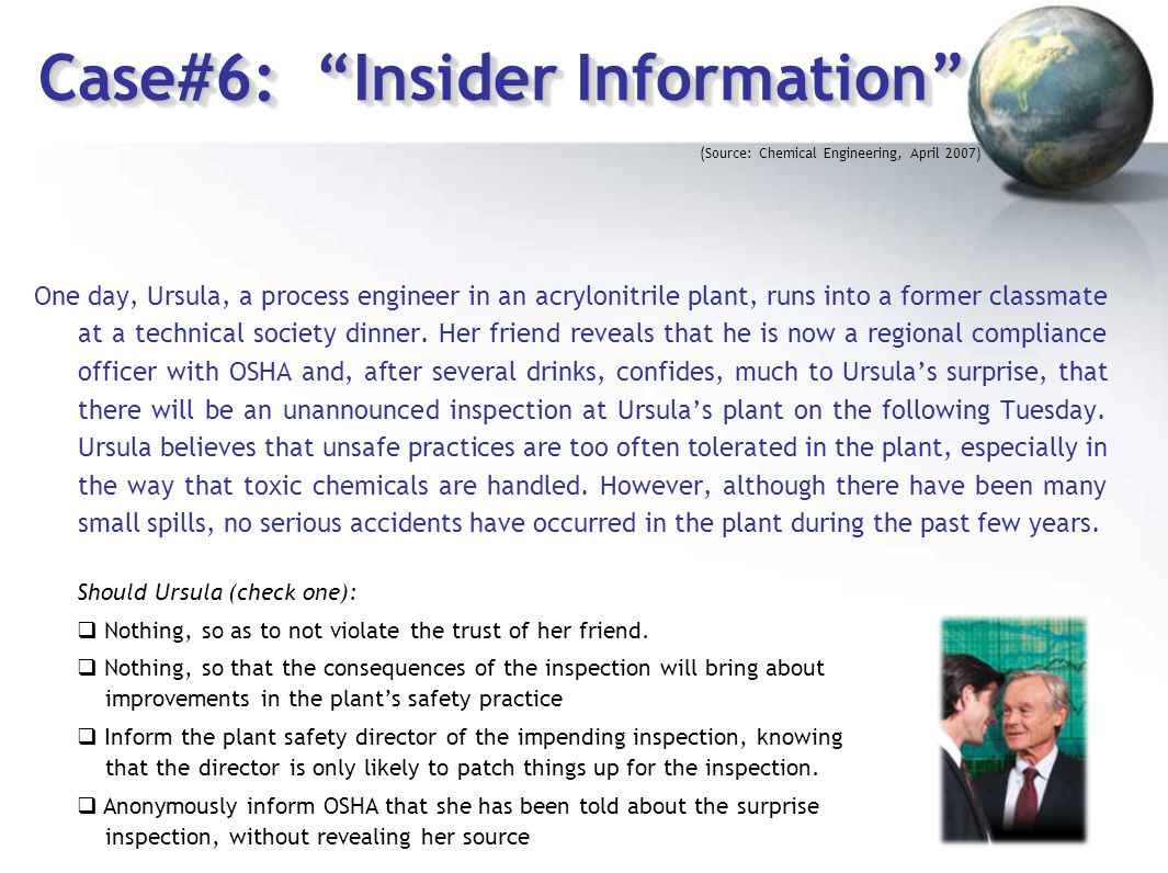 Case#6: Insider Information