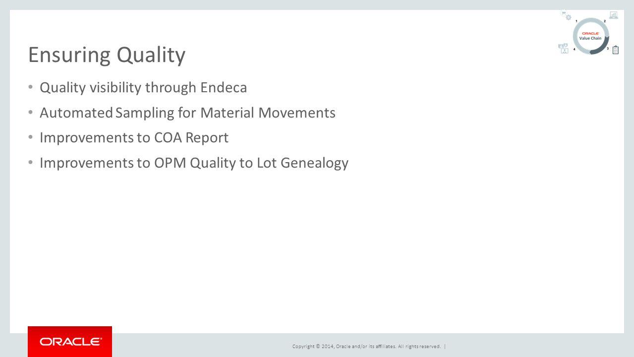 Ensuring Quality Quality visibility through Endeca