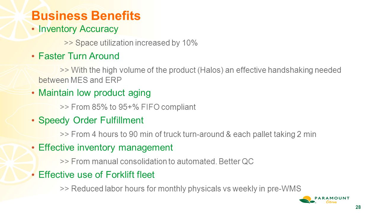 Business Benefits Inventory Accuracy
