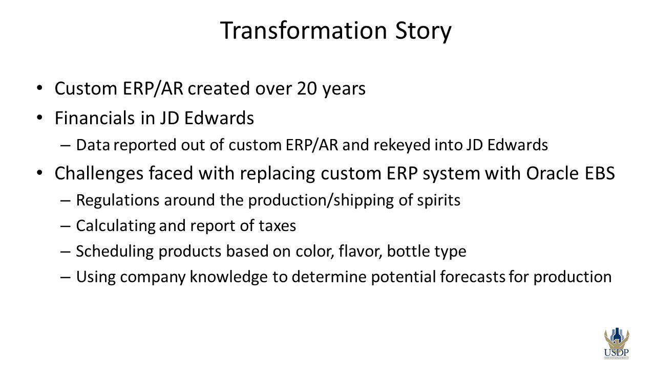 Transformation Story Custom ERP/AR created over 20 years
