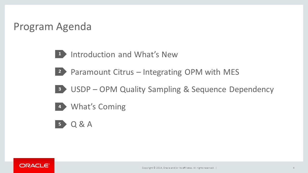 Program Agenda 1.