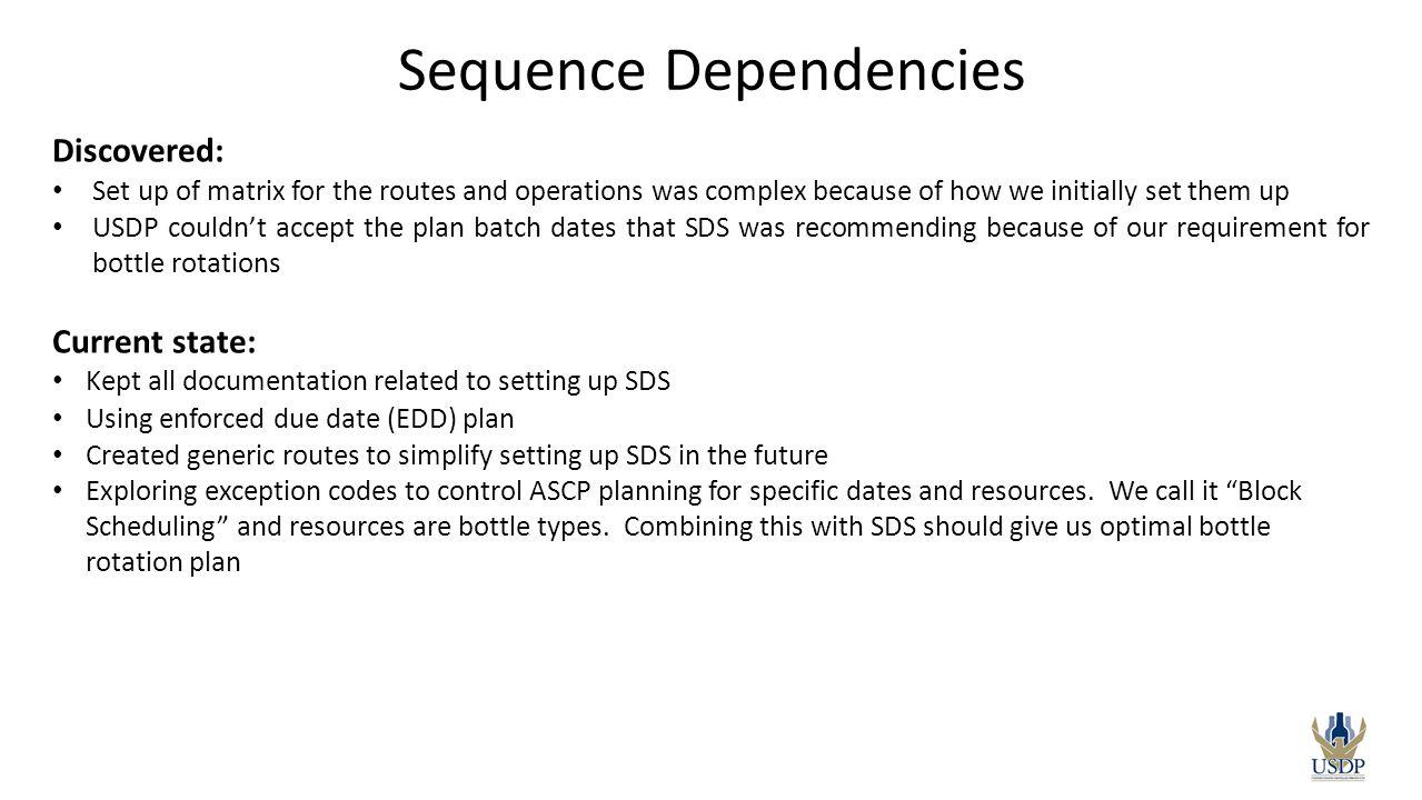 Sequence Dependencies